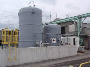 Dust suppression spray storage tanks.