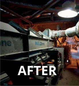 clean, dust-free conveyor