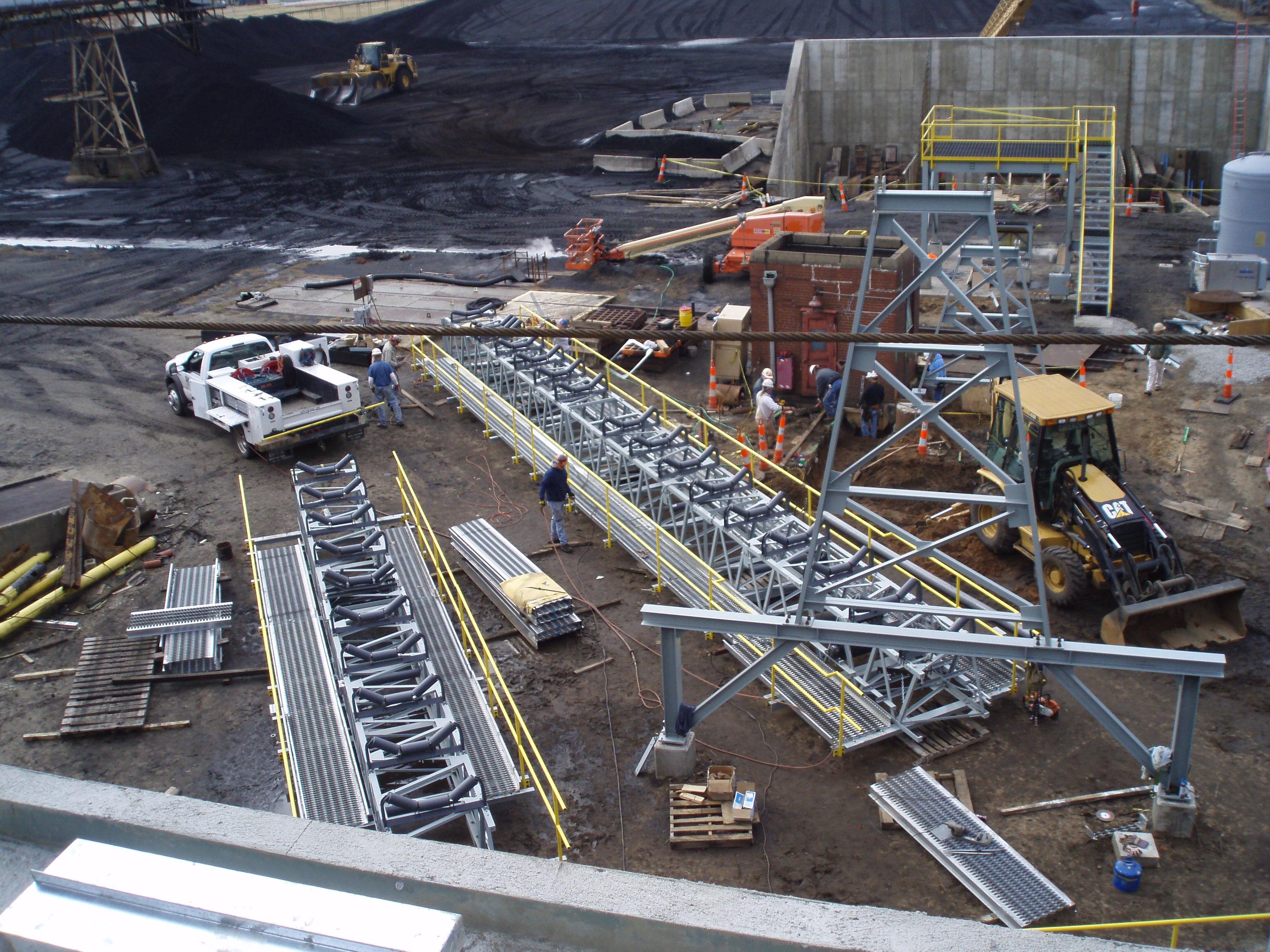 Team constructing conveyor system