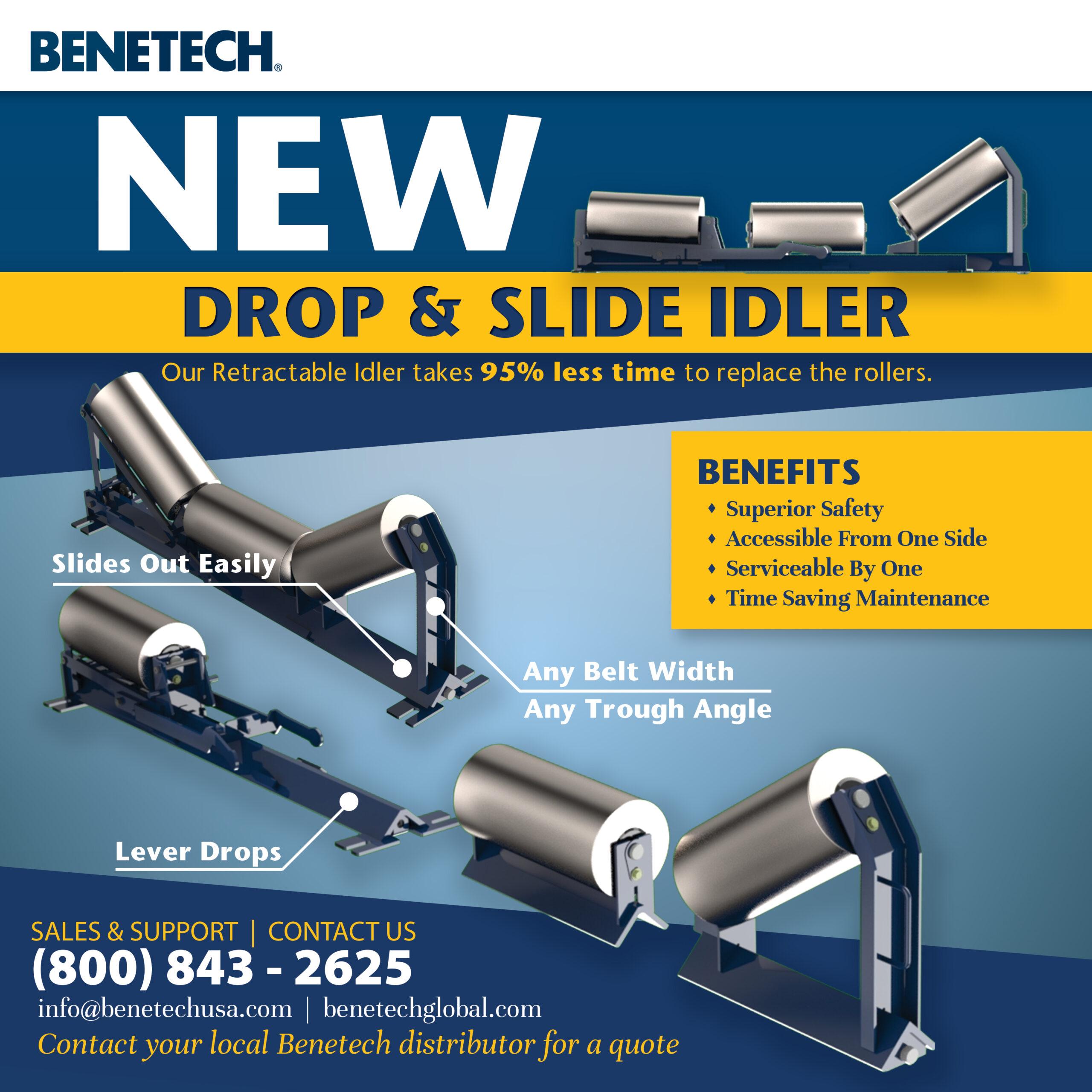 Benetech Drop & Slide Idler