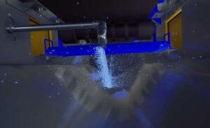 SC3 conveyor washdown simulation